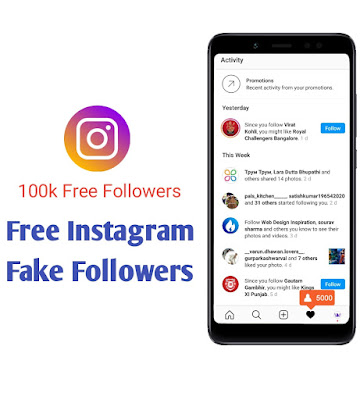 how to get fake follower on Instagram for free