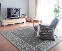 Interesting living room rugs design with gray color and interesting pattern rug