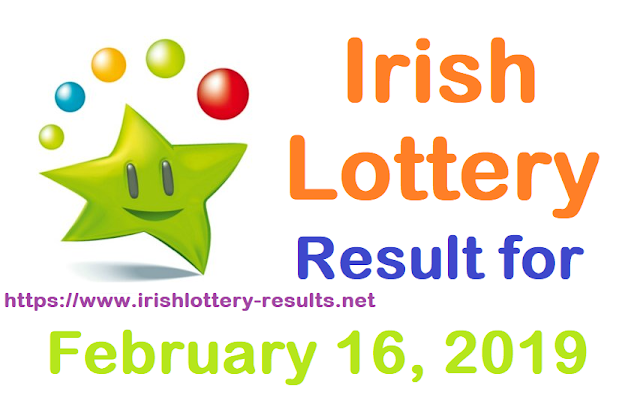 Irish Lottery Results for Saturday, 16 February 2019
