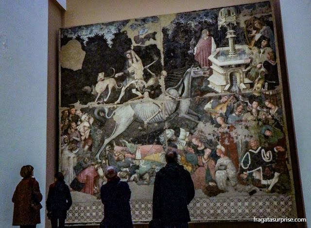"""Afresco """"O Triunfo da Morte"""", na Galeria Regional da Sicília, no Palácio Abatellis de Palermo"""
