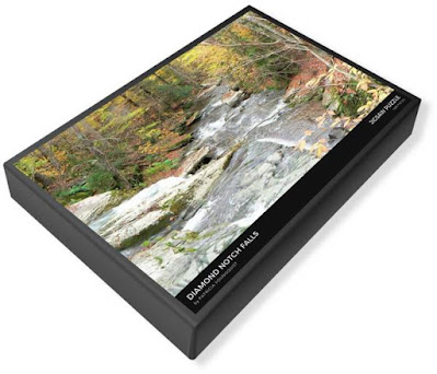 """This image of my puzzle's (""""Diamond Notch Falls"""") packaging is from Fine Art America @  https://fineartamerica.com/featured/diamond-notch-falls-patricia-youngquist.html?product=puzzle&puzzleType=puzzle-20-28"""