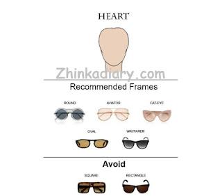 Kacamata untuk wajah hati