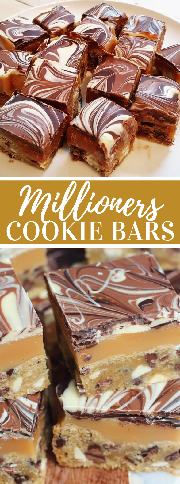MILLIONAIRES COOKIE BARS! #desserts #homemade