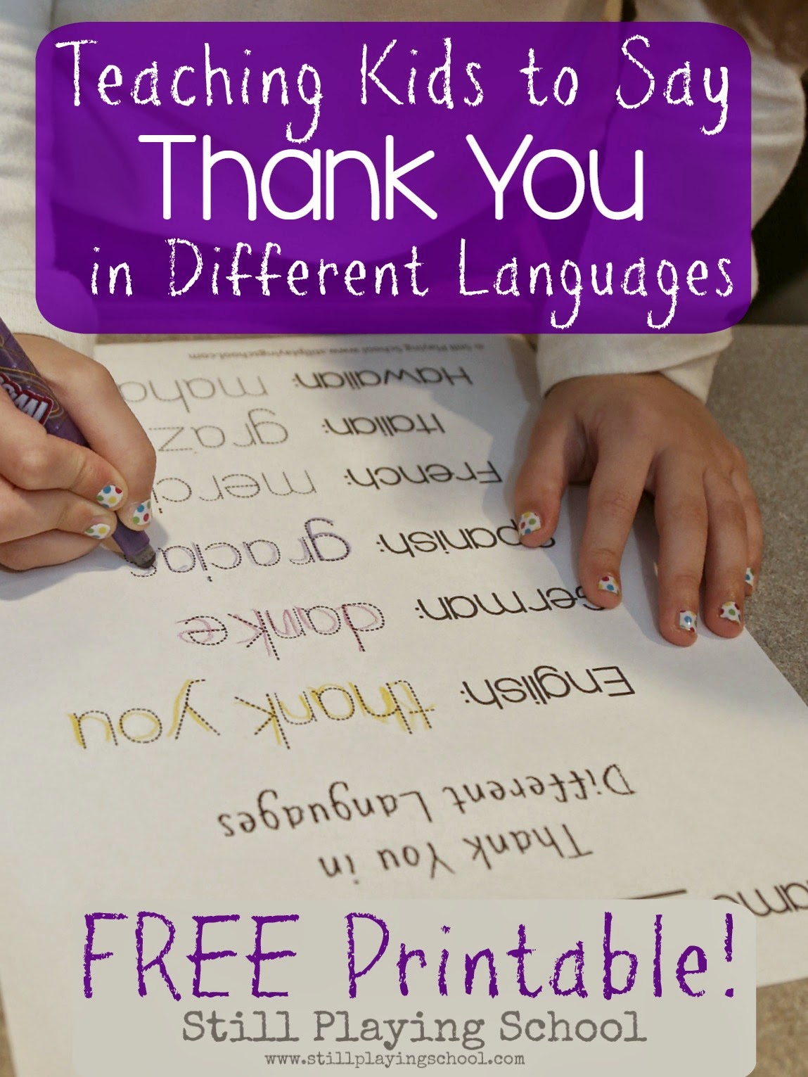 Teaching Kids Thank You In Different Languages Still