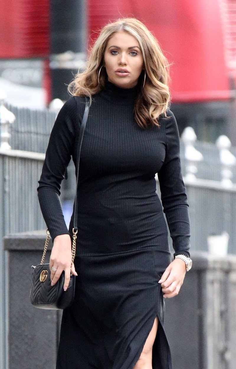 Amy Childs Clicked Outside  in London 13 Dec-2019
