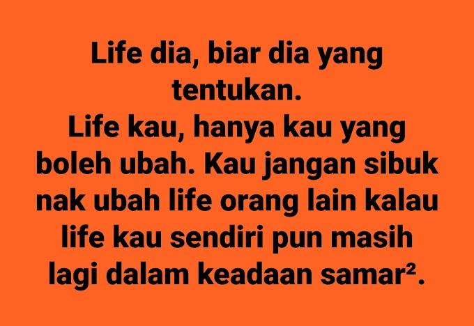 Jangan Sibuk Life Orang!