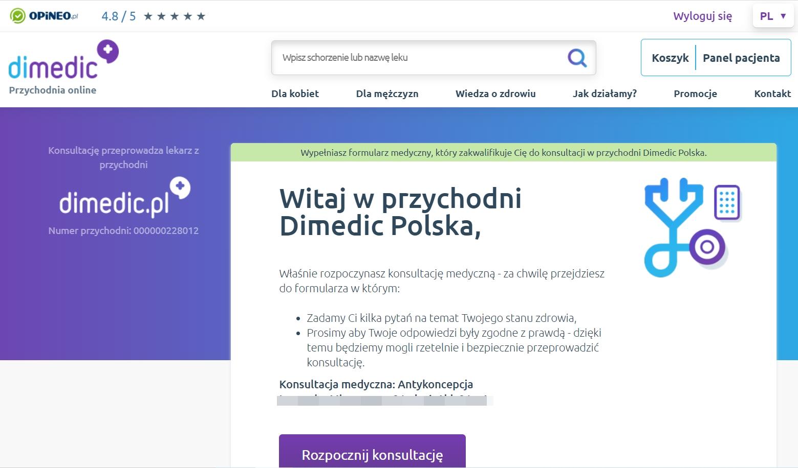 Przychodnia online DIMEDIC - odbierz e-receptę nawet w 10 minut!