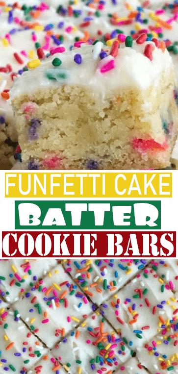 #FUNFETTI #CAKE BATTER #COOKIE BARS