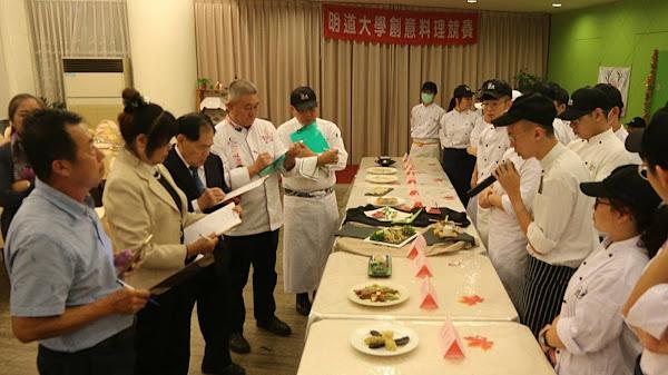 明道大學新春創意料理競賽 玫瑰餃子甜蜜入菜
