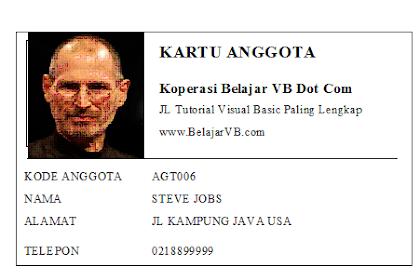 Membuat Laporan Cetak Kartu Anggota dengan Visual Basic 6.0