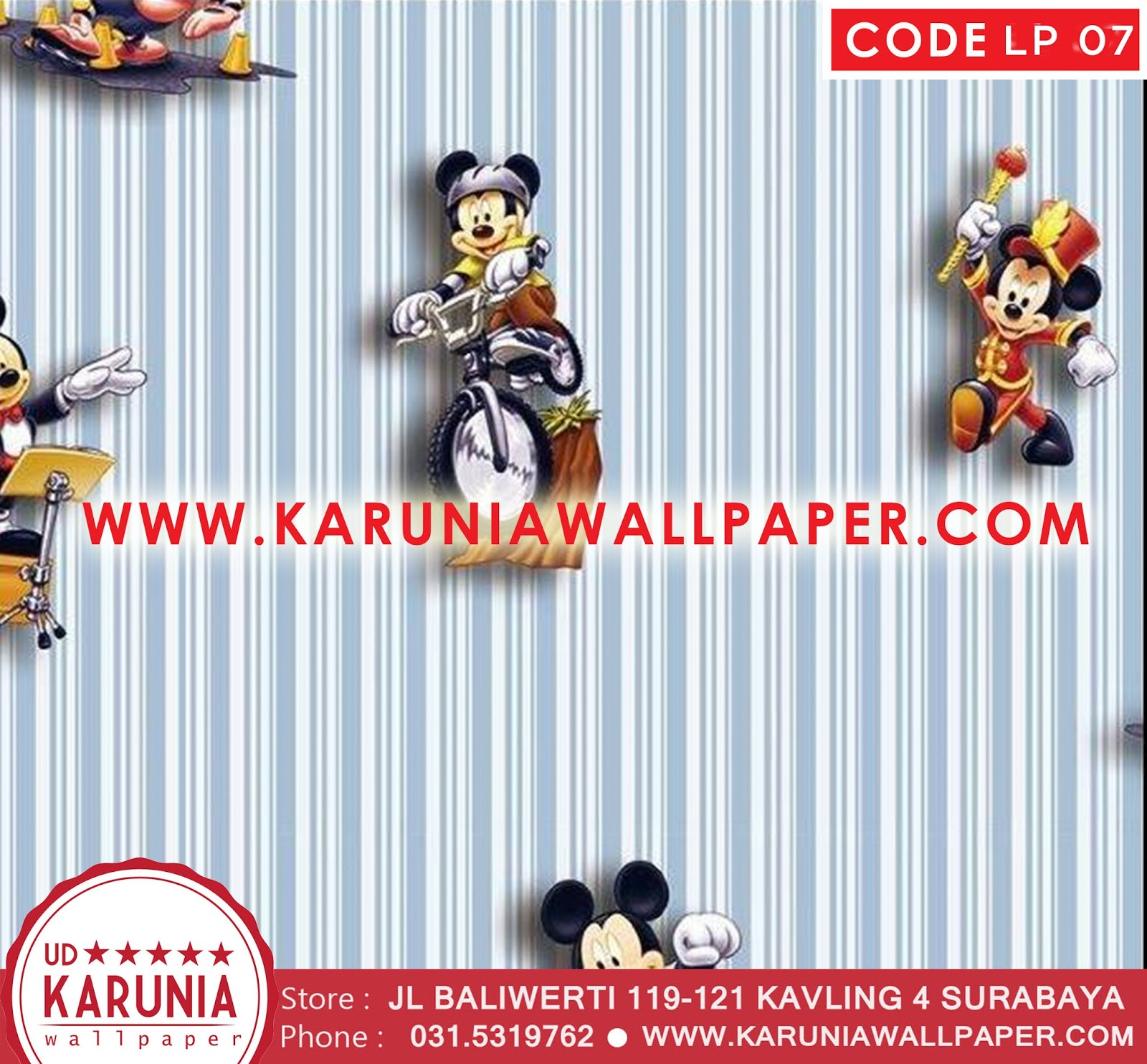 jual wallpaper mickey mouse murah