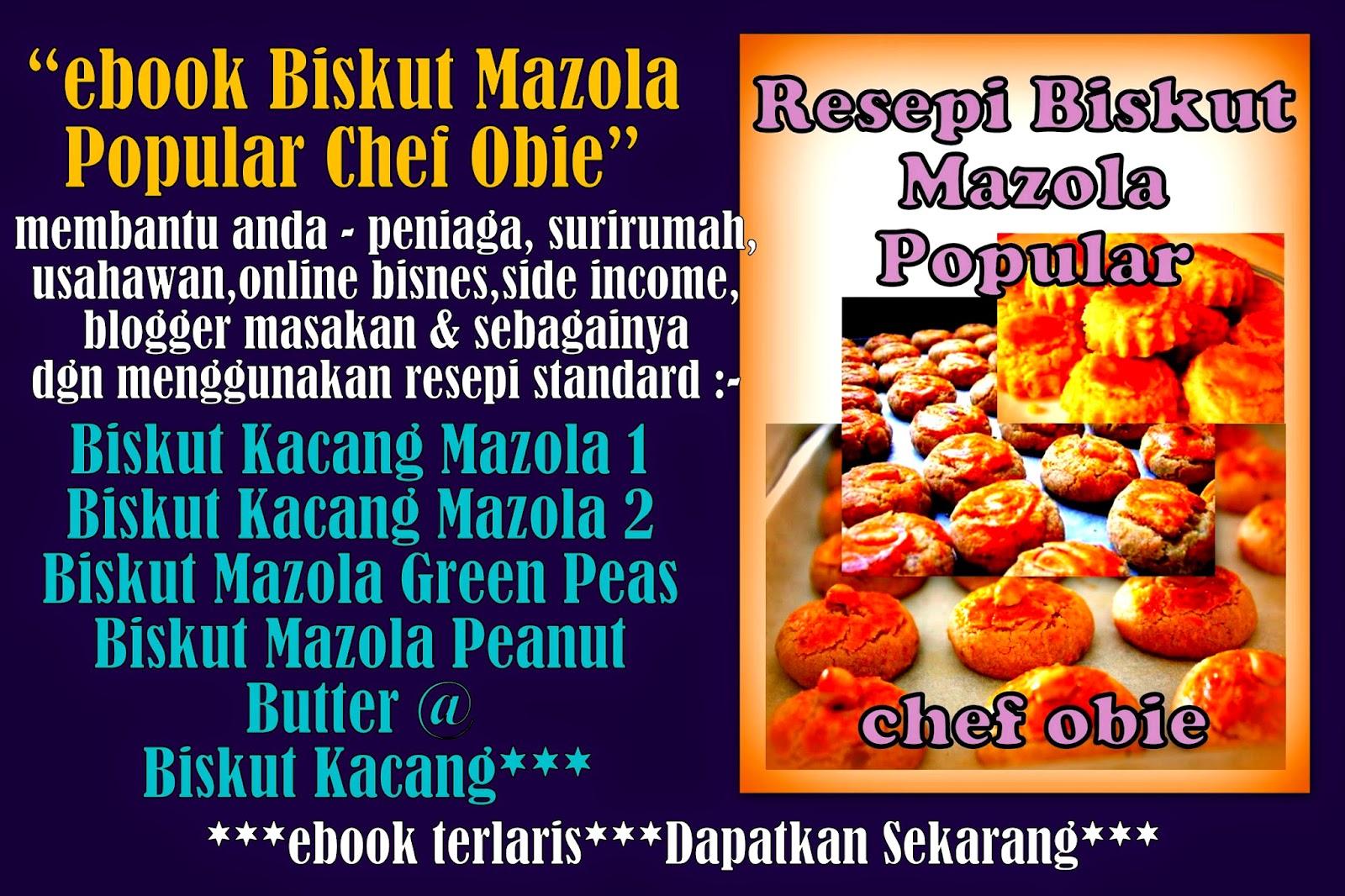 chef obie kelas masakan  info resepi dapatkan  terlaris resepi biskut mazola Resepi Biskut Mazola Chef Hanieliza Enak dan Mudah