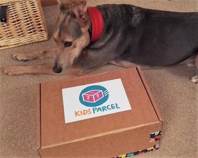 The kids parcel and a dog