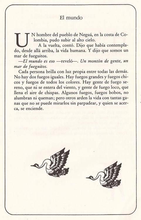 Rincón de a todo leer : El mundo, por Eduardo Galeano