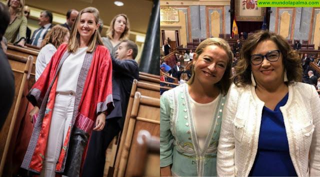 Las diputadas canarias visten de Isla Bonita Moda en su primera jornada en el Congreso de los Diputados