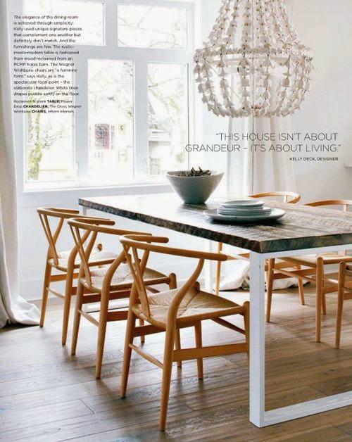 Comedor escandinavo y chandelier original vintage