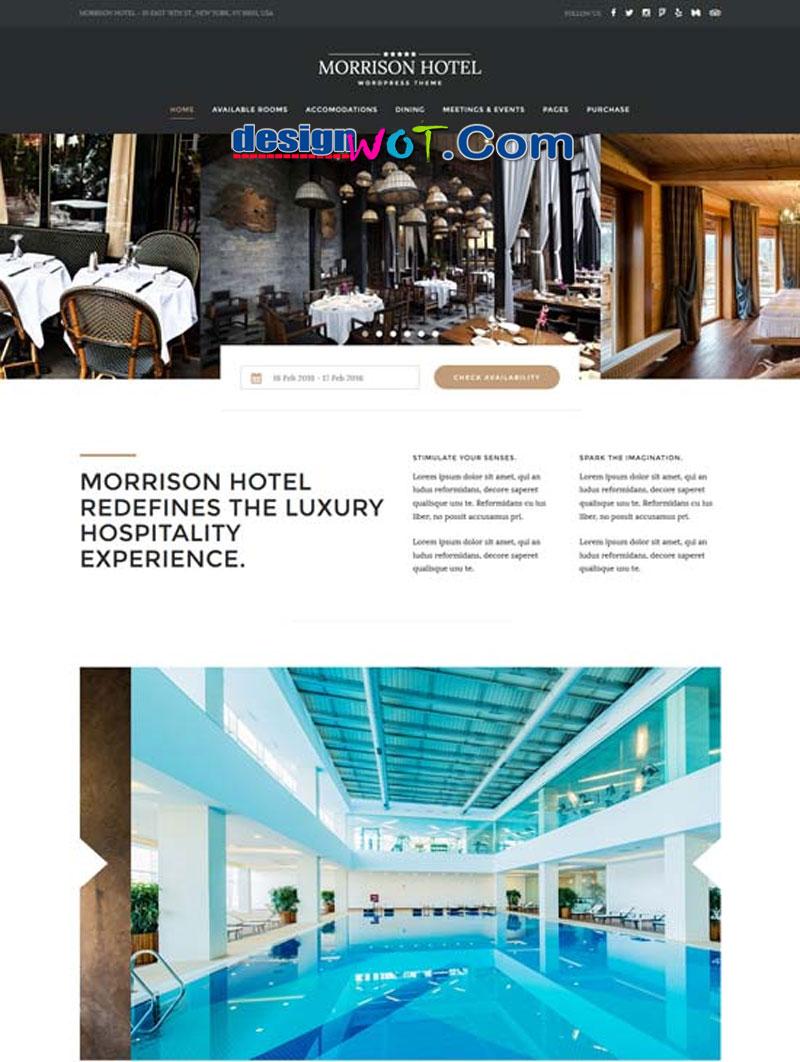 Morrison Hotel - Hotel Booking WordPress Theme