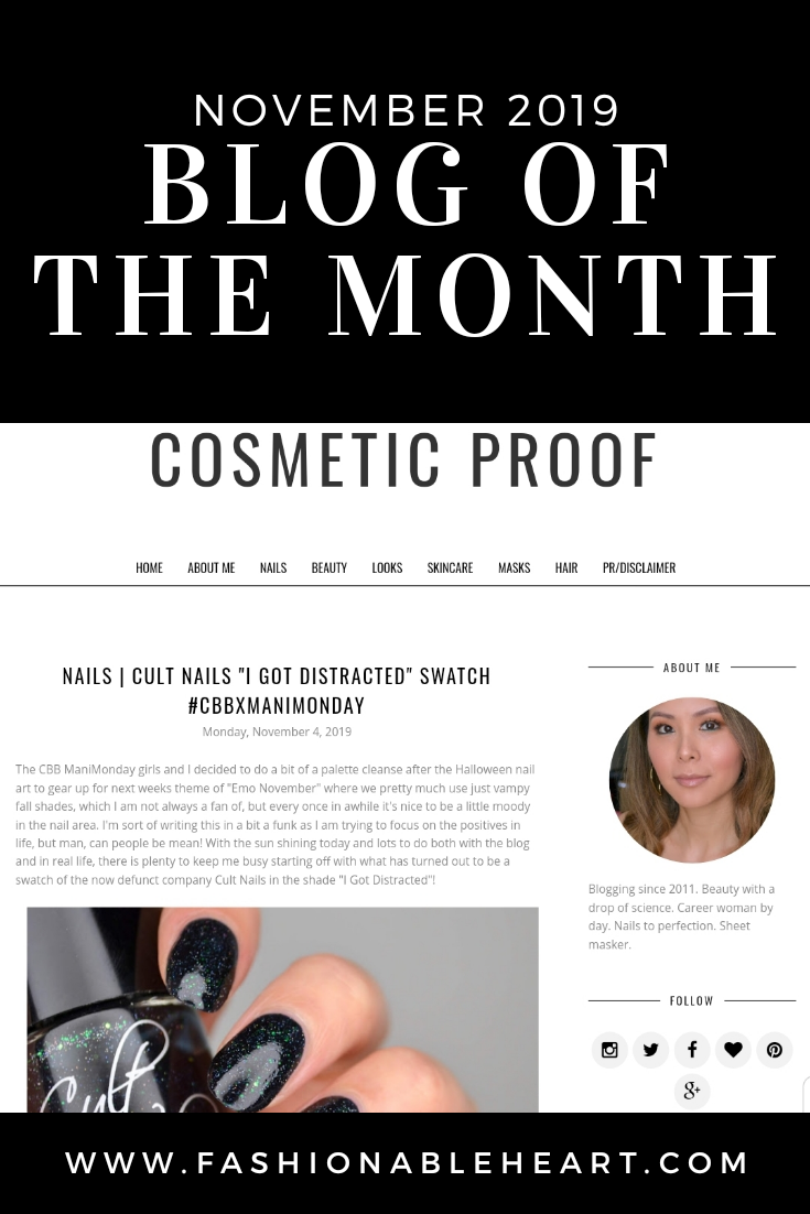 bbloggers, bbloggers, bbloggerca, bbloggersca, canadian beauty bloggers, beauty blog, cosmetic proof, featured blogger, blog of the month