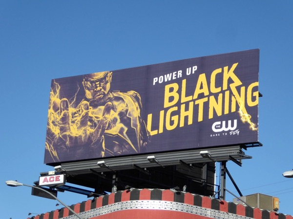 Black Lightning series premiere billboard