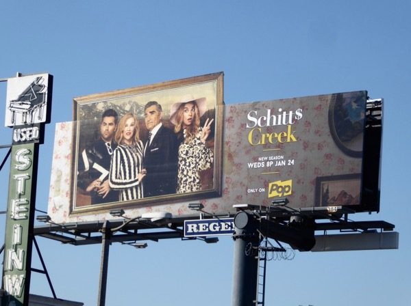 Schitts Creek season 4 billboard