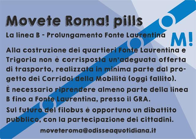 Movète Roma Pillola, numero 6, la Linea B - Prolungamento fino a Fonte Laurentina