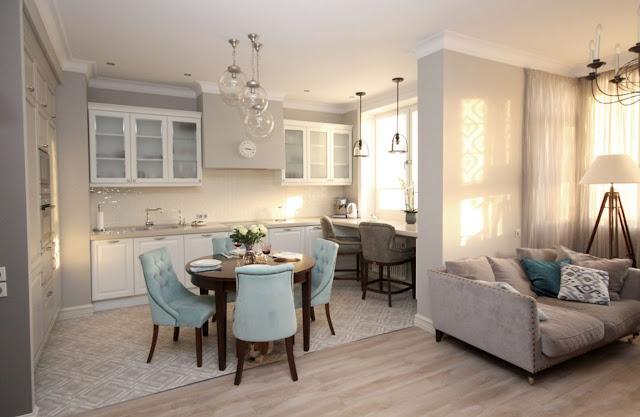 Классический интерьер квартиры в оттенках серого!