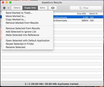 Delete all duplicate files