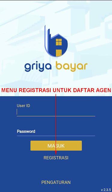Kode Referal Griya Bayar Mobile / Registrasi Agen Griya Bayar