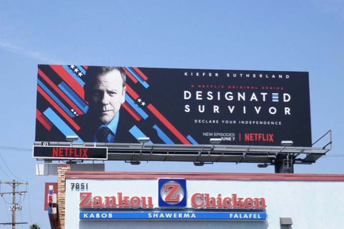 Designated Survivor season 3 Netflix billboard