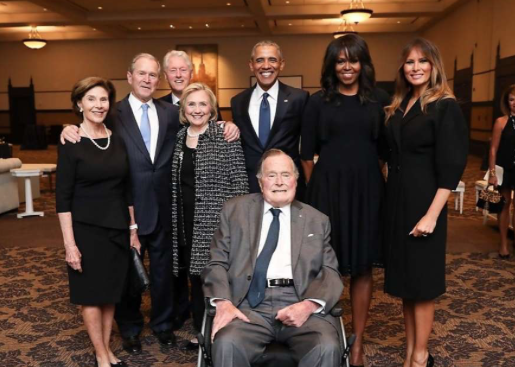 Elder George Bush hospitalized with blood infection, responding to treatment
