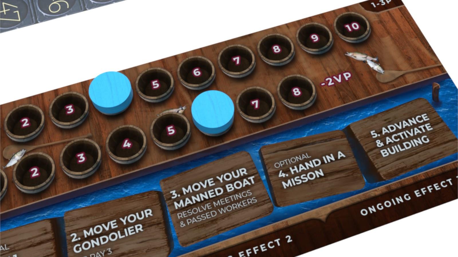 Kickstarter Highlight Venice Board Game Intrigue Board
