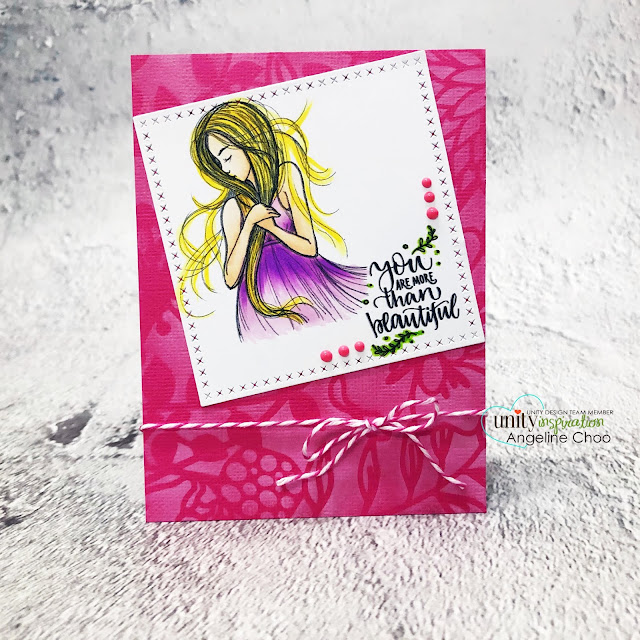 ScrappyScrappy: Feb New Release with Unity Stamp - More than Beautiful #scrappyscrappy #unitystampco #youtube #quicktipvideo #papercrafting #cardmaking #card #stamping #phyllisharris #morethanbeautiful #copicmarkers #nuvodrop #tonicstudios #dearlizzy #dearlizzystencil #serendipitystencil #trendytwine #strawberrycupcake #timholtz #distressoxideinks
