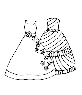 desenhos de roupas feminina vestido