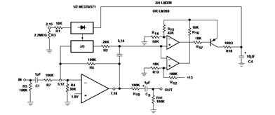 NE570/NE571 High Level Limiter Circuit