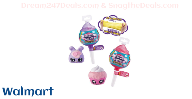 Oosh Cotton Candy Cuties Series 2 Scented, Squishy, Stretchy Slime with Collectible Cutie Slow Rise Toy by ZURU