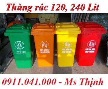 Thùng rác 120 lit 240 lit cung cấp sỉ lẻ cả nước lh 0911.041.000