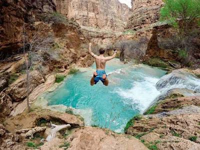 القفز في الماء البارد