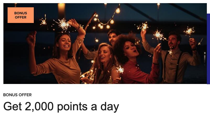 Earn 2,000 bonus points per night at the Delta Hotels Toronto Mississauga