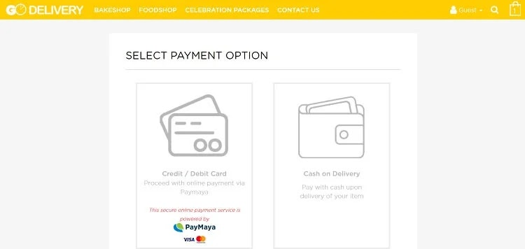 Select Credit/Debit Card As PayMent Option