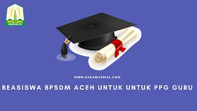 Beasiswa BPSDM Aceh Untuk PPG Guru Tahun 2021