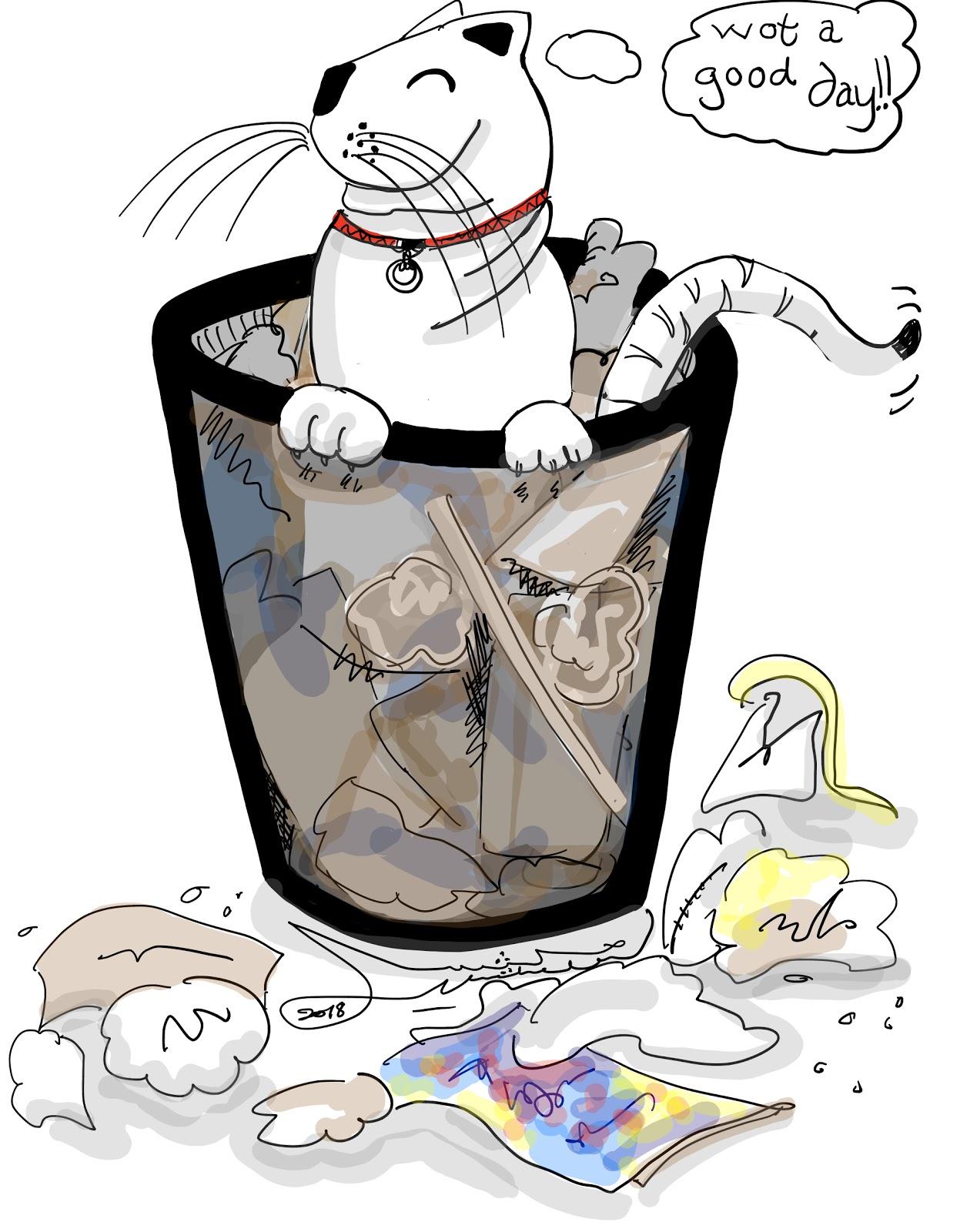 Rubbishing: an extreme feline sport