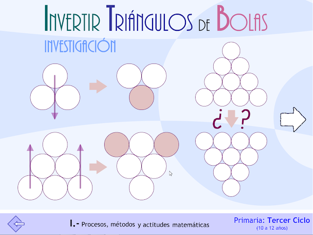 Invertir triángulos de bolas. Investigación. Proyecto MATE.TIC.TAC