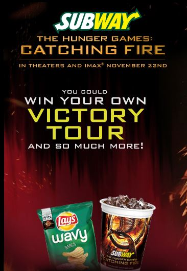Subway prize instant win codes