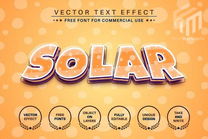 Solar Editable Text Effect Font Style