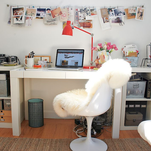 A Bright White Parsons Deskanyone See That One Coming
