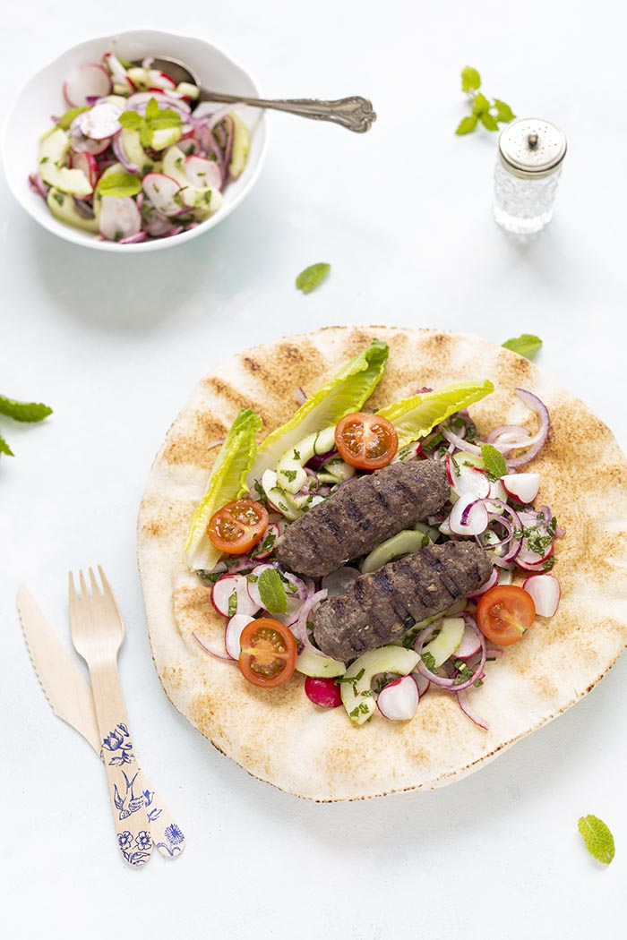 Perski kebab z mielonej wołowiny