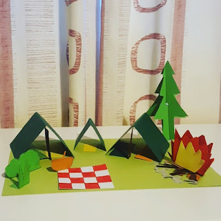 A paper craft Camp Site by Top Ender