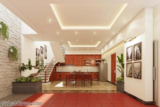 Thiết kế nội thất không gian chung tầng trệt biệt thự đẹp