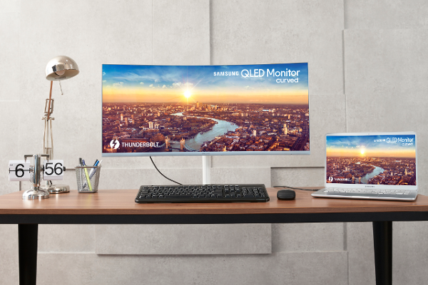 IFA 2018: SAMSUNG's CJ79 (C34J791) QLED curved monitor is the World's first monitor with Intel's Thunderbolt 3 technology