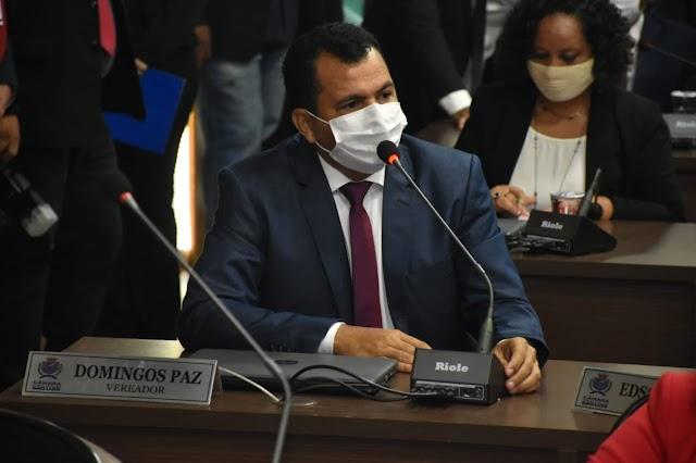 Vereador Domingos Paz solicita  reforma em escola do Tibiri e serviços de recuperação asfáltica